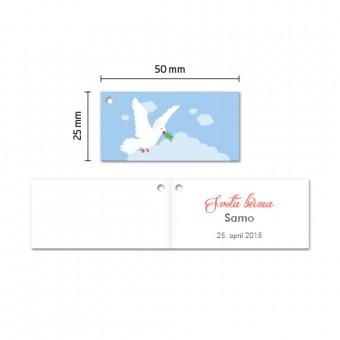 Kartončki za konfete - golob med oblaki