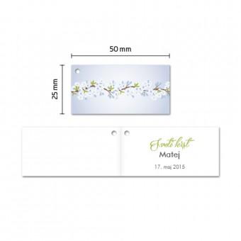 Kartončki za konfete - češnjevi cvetovi - modra