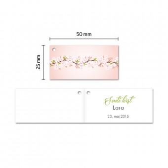 Kartončki za konfete - češnjevi cvetovi - rožnata