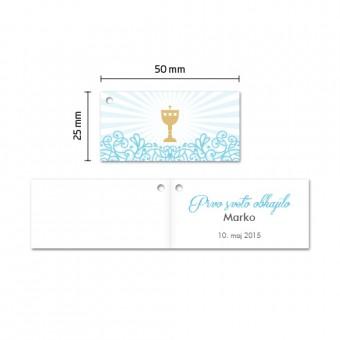 Kartončki za konfete - kelih - modra