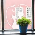 Dekorativna nalepka za steklo - mački