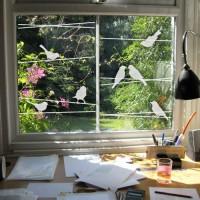 Dekorativna nalepka za steklo - ptice