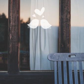 Dekorativna nalepka za steklo - ptička