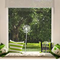 Dekorativna nalepka za steklo - regratova lučka