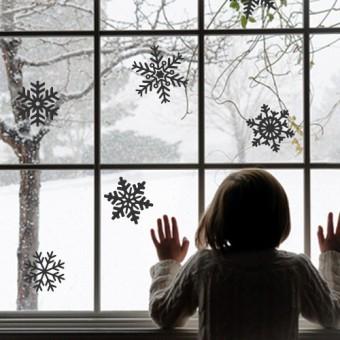 Dekorativna nalepka za steklo - snežinke