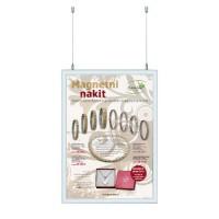 Dvostranski viseči klip okvir z dvema plakatoma 50 x 70 cm