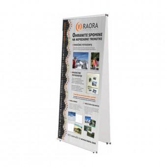 Dvostransko baner stojalo s tiskom dveh grafik 100 x 200 cm
