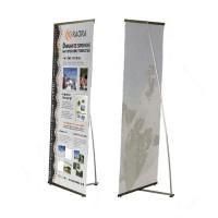Enostransko quick baner stojalo s tiskom grafike 100 x 200 cm