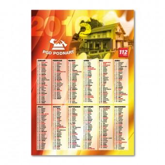 Gasilski koledar #1, A3, 160 g