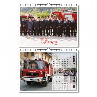 Gasilski 7-listni koledar, A3