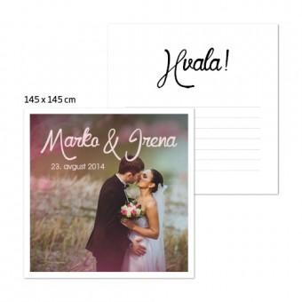 Personalizirane kartice za zahvalo 145 x 145 mm