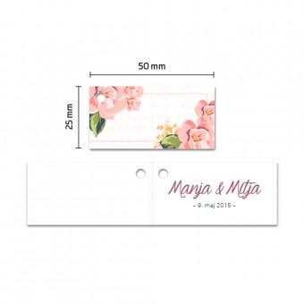 Kartončki za konfete - cvetje #1