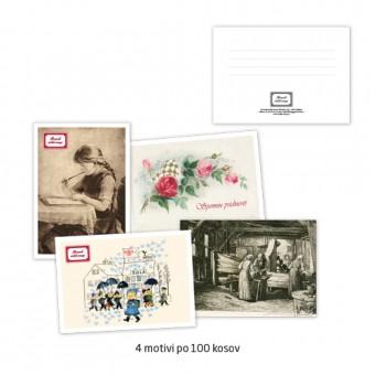 Komplet kartic za sporočilo A6, 250 g, 4/1, 4 x 100