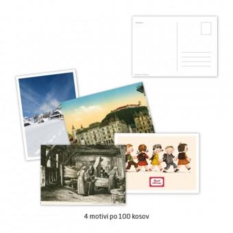 Komplet razglednic A6, 250 g, 4/1, 4 x 100