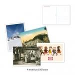 Komplet razglednic A6, 250 g, 4/4, 4 x 100