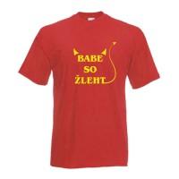Nagajiva majica Babe so žleht