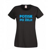 Majica s poljubnim enobarvnim potiskom - teliran kroj