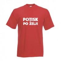 Majica s poljubnim enobarvnim potiskom - univerzalen kroj