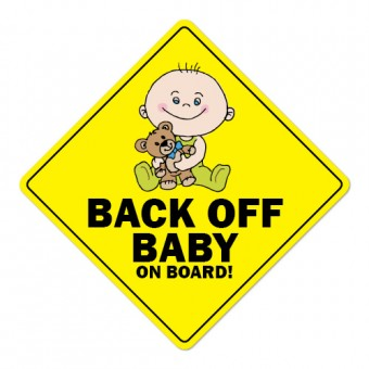 Nalepka / magnetna tablica BACK OFF BABY on board