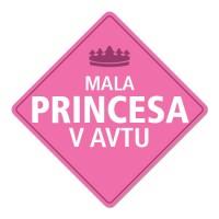 Nalepka / magnetna tablica Mala princesa v avtu