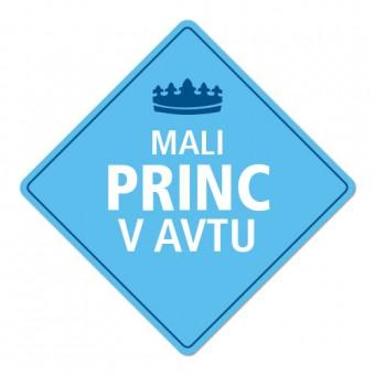 Nalepka / magnetna tablica Mali princ v avtu