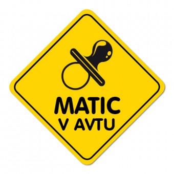 Nalepka / magnetna tablica Otrok v avtu, duda