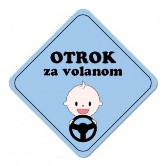 Nalepka / magnetna tablica Otrok za volanom, modra