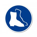 Obvezna uporaba zaščitnih škornjev