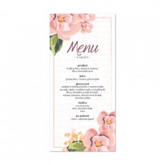 Poročni menuji - cvetje #1