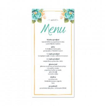 Poročni menuji - cvetje #2
