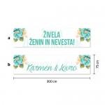 Poročni transparent - cvetje #2