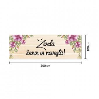 Poročni transparent - cvetje #4
