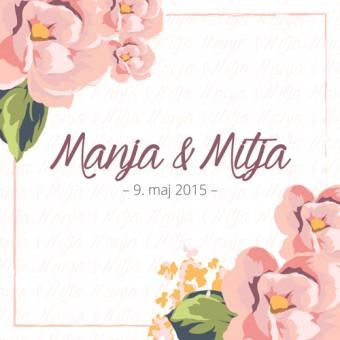 Poročno vabilo - cvetje #1