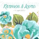 Poročno vabilo - cvetje #2
