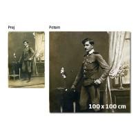 Reprodukcija stare fotografije na platno 100 x 100 cm