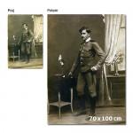 Reprodukcija stare fotografije na platno 70 x 100 cm