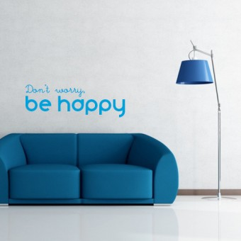 Stenska nalepka Don't worry, be happy
