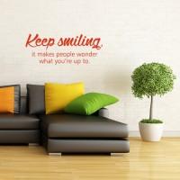 Stenska nalepka Keep smiling