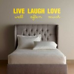 Stenska nalepka LIVE well LAUGH often LOVE much