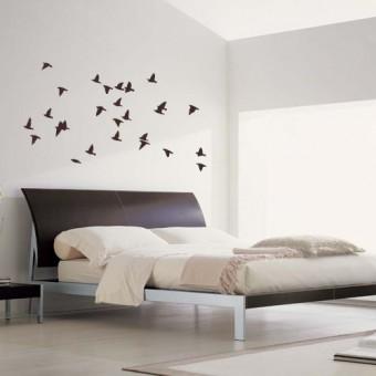 Stenska nalepka Jata ptic