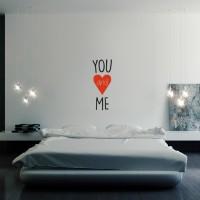 Stenska nalepka YOU and ME