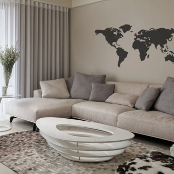 Stenska nalepka Zemljevid sveta