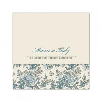 Poročno vabilo - rože
