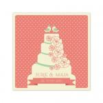 Poročno vabilo - torta