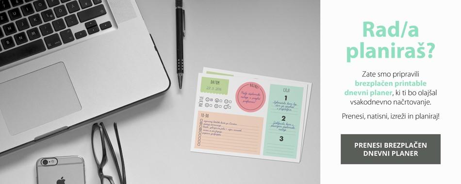 Brezplačen printable dnevni planer